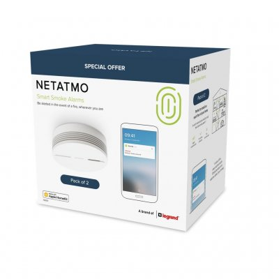 Netatmo Smart Smoke Alarm 2-pack