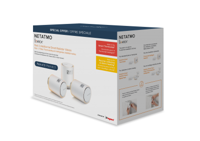 Netatmo Smart Radiator Valves elementventil 3-pack
